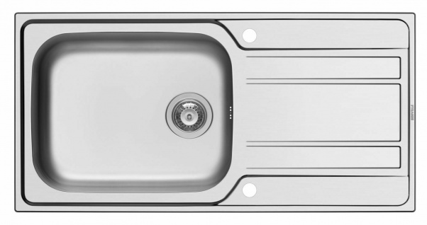 Edelstahl Einbauspüle 100 cm Küchenspüle großes Becken Drehverschluß *107156912