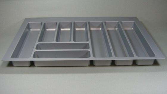 Schubladen Besteckeinsatz Teck 80 cm zuschneidbar Besteckkasten kürzbar *44575