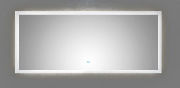 LED Badezimmer Wand Spiegel EMOTION 140 x 60 cm Touch Bedienung 34 Watt *14060