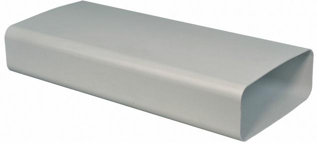 Flachkanal 222x89 mm Abluft-Rohr 100 cm ohne Muffen Lüftungsrohr Küche *562497