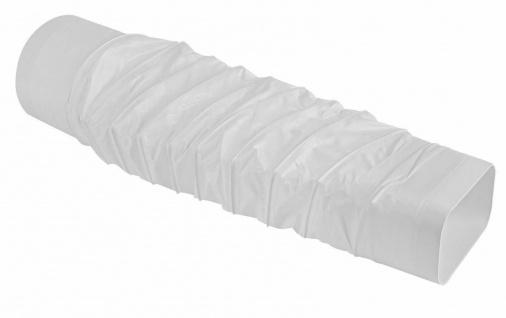 Flexschlauch Abluft 40 cm flexibel Flachkanal 150x70 mm zu Ø 125 mm rund *526970