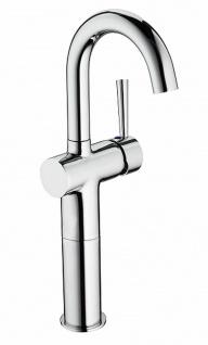 Waschtischarmatur hoch Badarmatur Einhandmischer Carlo Waschbecken Armatur *0427