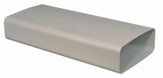Flachkanal Abluft 222x89 mm Lüftungsrohr 100 cm ohne Muffen Dunstabzug *50550