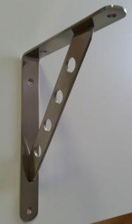1 Garderobenkonsole Wandkonsole Regalträger Schwerlastträger Edelstahloptik *532