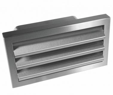 Edelstahl Aussengitter Rückstauklappe Flachkanal Abluft 230x80 mm Küche *529261