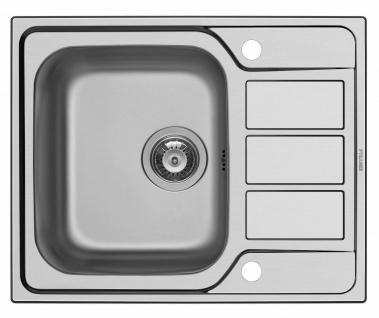 Einbauspüle Athena Küchenspüle 62x50 cm Spülbecken Spüle mit Hahnloch *101104712