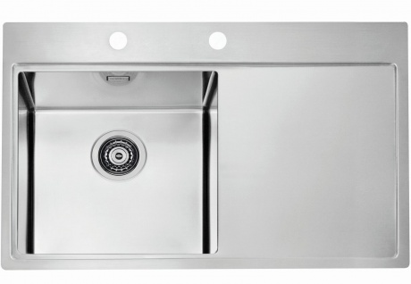 Einbauspüle große Küchenspüle 79 cm Edelstahl Spülbecken Ablaufgarnitur *1103610