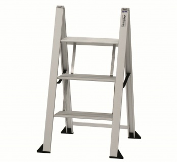 Trittleiter Klapptritt Klappleiter 3 Stufen Aluminium Vikingstep® Maxi *559152
