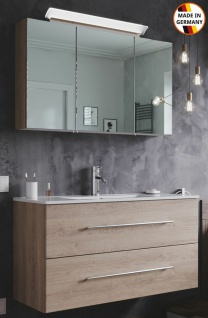 Waschplatz Homeline 100 cm LED Spiegelschrank EEK A+ Badmöbelset Keramikbecken