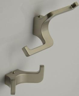 Garderobenhaken moderner Kleiderhaken Edelstahl Optik Handtuchhalter Wand *529
