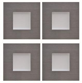 4-er Set LED Edelstahl Sockel Einbauleuchte Küche 4 x 0, 35 W Warmweiss *543434