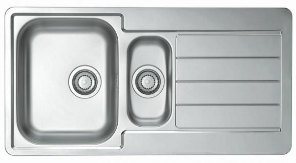 Einbauspüle Edelstahl 98 cm Küchenspüle 1, 5 Spülbecken Abtropffläche *1064281