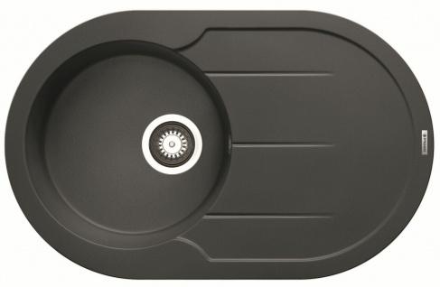 Einbauspüle 78x49 cm Küchenspüle Alazia Round Spülbecken grau Spüle *070072912
