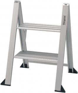 2 Stufen Tritt Klappleiter VIKINGSTEP® MINI Klapptritt max 150 kg Leiter *559145