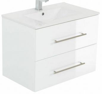 Waschtisch mit Unterschrank 75 cm Waschplatz Homeline 2 Schubladen Badmöbel