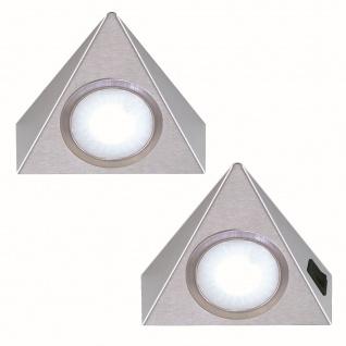 LED 2-er Set Küchen Unterbauleuchte 2 x 1, 3 W Dreiecklampe Neutralweiss *551897