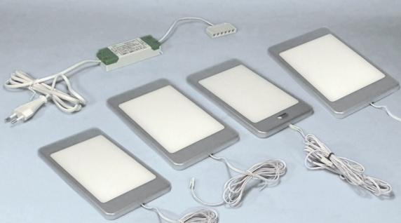 LED 4-er Set Küchen Unterbauleuchte PINE 4 x 6 W Neutralweiss Sensorlicht *30659