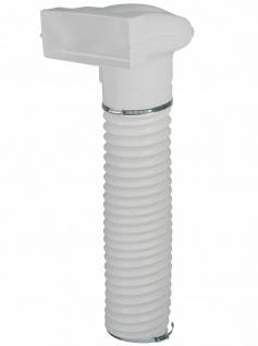 Umlenkstück Flachkanal 222x89 mm auf Ø 150 mm Abluft 100 cm Flexschlauch *50565