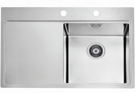 Alveus Einbauspüle Küchenspüle 790x525 mm Edelstahl Spülbecken ...
