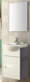 Waschtisch 46 cm Spiegel Vormontiert Gast WC Gäste Bad Waschplatz Becken *91210