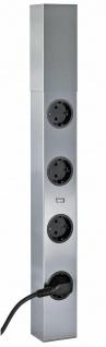 Steckdose Küche teleskopierbar Edelstahl Mehrfach Küchensteckdose USB *542192