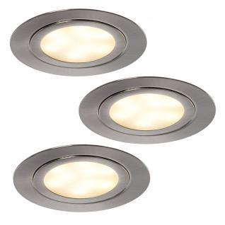 LED 3-er Set Schrank-/Regalboden Einbau Leuchte Spot Strahler Lampe 3 W *552030