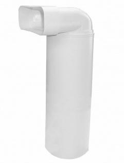 Umlenkstück Abluft Küche Flachkanal 230x80 mm zu Ø 150 mm Rundrohr 100 cm *50472