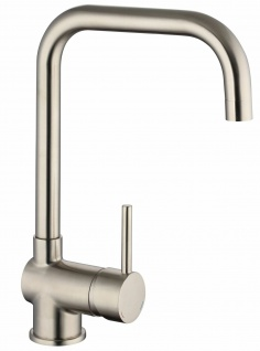 Niederdruck Küchenarmatur edelstahloptik Wasserhahn Auslauf 360° drehbar *2122
