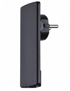 Flachstecker schwarz Schukostecker 5 mm ohne Anschlusskabel EVOline Plug *508266