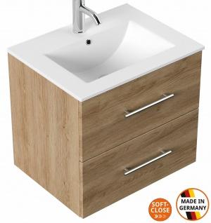Waschtisch mit Unterschrank 60 cm Gäste Bad kleiner Waschplatz Homeline Badmöbel