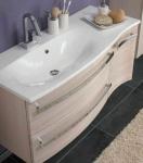 Waschplatz 110x52 Waschtisch Holzdekor Waschbecken Schubladen Harmonie *WP-Har