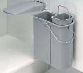 Wesco ÖKO 45/2 Bio Abfall Mülleimer 1 x 14 & 1 x 5 L Ausschwenkautomatik *514816