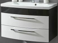 Waschtisch 100 cm 2 Schubladen Softeinzug Waschplatz Rima Waschbecken *5870-99