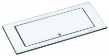 EVOline BACKFLIP USB Charger 2-fach Einbau-/Küchensteckdose Glas Weiss *558315