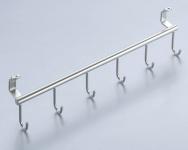 Haken Geschirr Handtuchleiste 6-fach Reling Linero 2000 Edelstahloptik *521272
