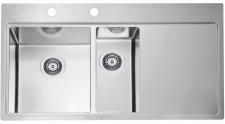 Alveus Pure 60 Einbau Küchenspüle 980 x 525 mm Spül 1, 5 Abwaschbecken *1103654