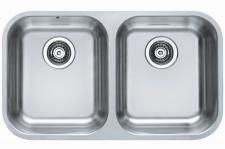 Küchen Doppel Unterbauspüle Duo 30 Unterbau Doppelbecken 752 x 440 mm *1036849