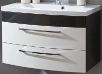 Waschtisch 100 x 57 x 50cm Schubladen Softeinzug Waschplatz Badmöbel *5870-99