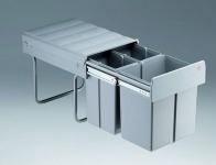 Wesco Trio Maxi 40 Vollauszug 1 x 20, 2 x 10 L Küchen Abfall Mülleimer *515272