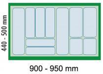 Dirks Schubladen Besteckeinsatz 100 cm Schrank Besteckkasten zuschneidbar *41929