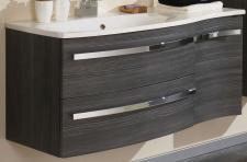 Waschtisch 110 x 52 cm Waschplatz SoftClose Kosmetikeinsatz Vormontiert *WP-Harm