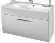 Waschplatz 90 cm Salona Waschtisch Mineralgussbecken 1 Wäsche-Klappe *5603-76