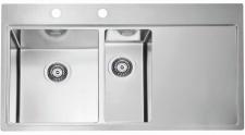 Alveus Küchenspüle Einbauspüle 980x525 mm Abwaschbecken Edelstahl Spüle *1103654