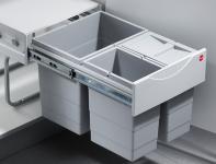 Hailo Raumspar Tandem Bio Mülleimer Küche 1 x18, 2 x 8, 5L Abfalleimer *516575
