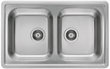 Alveus Einbauspüle Küchenspüle 810 x 510 mm 2 Becken Doppelbecken Spüle *1009383
