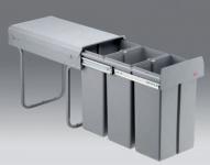 Wesco Bio Trio 30 DT Küchen Müll Abfalleimer 3 x 10 Liter Mülltrennung *40751