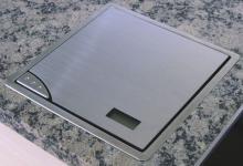 Arbeitsplatten Edelstahl Küchen Einbauwaage 210 x 210 mm Digitalanzeige *32159