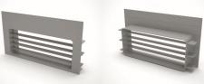 Umluft Sockelkasten Sockellüftung 220 x 90 mm für Downdraft Abzugshauben *560318