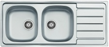 Alveus Doppelspüle Küchenspüle Einbauspüle 1160 x 500 mm 2 Becken Spüle *1087978