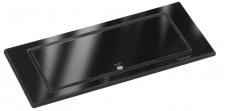 EVOline Backflip Glas Einbau Küchensteckdose Schwarz 1 x USB 2 x Schuko *558308